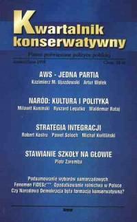 Kwartalnik Konserwatywny nr 4 (jesień/zima) 1998 - okładka książki