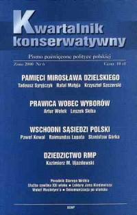 Kwartalnik Konserwatywny nr 6 (zima) - okładka książki