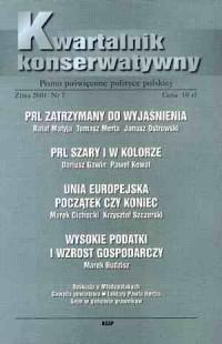 Kwartalnik Konserwatywny nr 7 (zima) 2001 - okładka książki