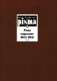 Pisma rozproszone 1923-1931. Tom 2 - okładka książki