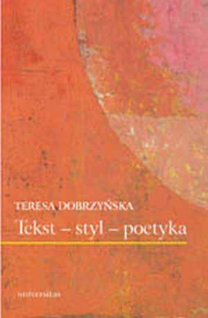 Tekst - styl - poetyka - okładka książki
