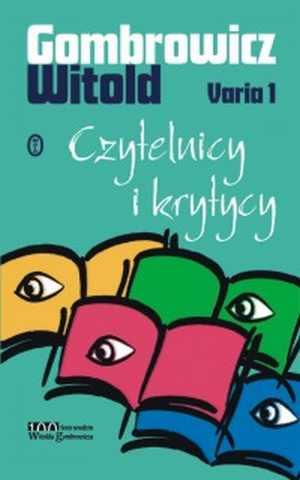 Varia 1. Czytelnicy i krytycy - okładka książki