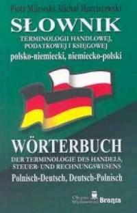 Słownik terminologii handlowej podatkowej i księgowej polsko-niemiecki, niemiecko-polski - okładka książki
