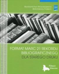 Format MARC 21 rekordu bibliograficznego dla starego druku - okładka książki
