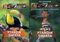 Atlas ptaków świata 250 gatunków - okładka książki