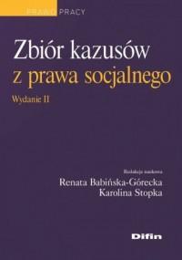 Zbiór kazusów z prawa socjalnego. - okładka książki