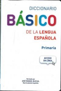 Diccionario Basico de la lengua - okładka książki