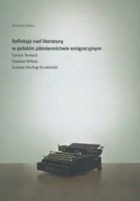 Refleksja nad literaturą w polskim - okładka książki