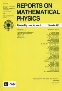 Reports on Mathematical Physics 80/3 2017 Kraj - okładka książki