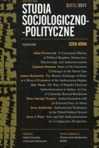 Studia Socjologiczno-Polityczne 2/07/2017 - okładka książki