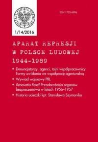Aparat Represji w Polsce Ludowej 1944-1989 nr 1 (14)/2016 - okładka książki