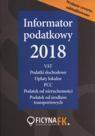 Informator podatkowy 2018 - okładka książki