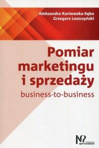 Pomiar marketingu i sprzedaży business-to-business - okładka książki