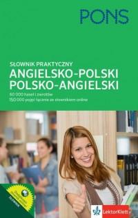 Słownik praktyczny angielsko-polski - okładka książki