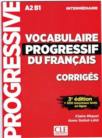 Vocabulaire progressif intermediare - okładka podręcznika