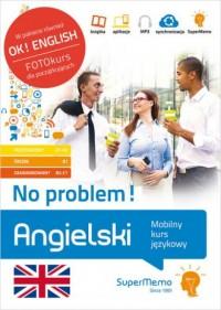 Angielski No problem! Mobilny kurs językowy pakiet poziom podstawowy A1-A2, średni B1, zaawansowa - okładka podręcznika