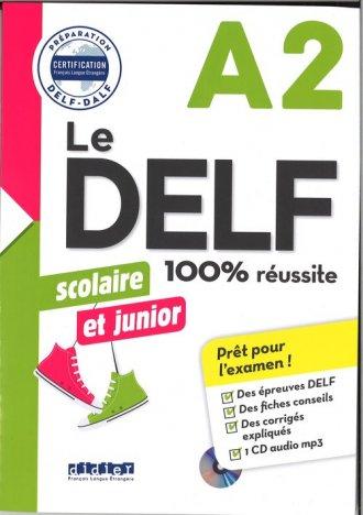 DELF 100% reussite A2 scolaire - okładka podręcznika