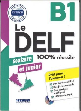 DELF 100% reussite B1 scolaire - okładka podręcznika