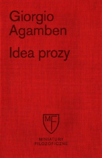 Idea prozy - okładka książki