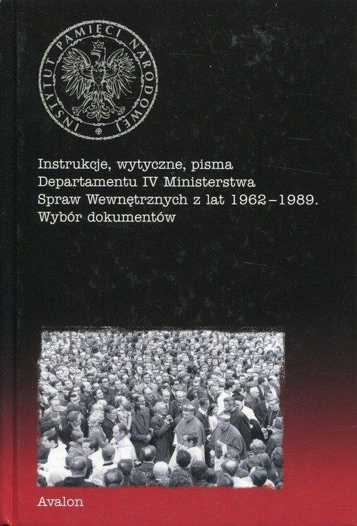 Instrukcje, wytyczne, pisma Departamentu - okładka książki