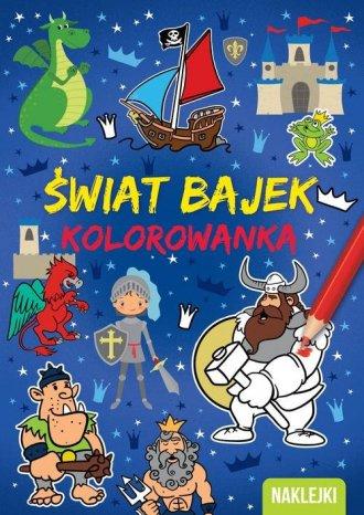 Kolorowanka A4  Świat bajek - okładka książki