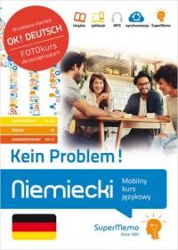 Niemiecki Kein Problem! Mobilny kurs językowy (pakiet: poziom podstawowy A1-A2, średni B1, zaawanso - okładka podręcznika