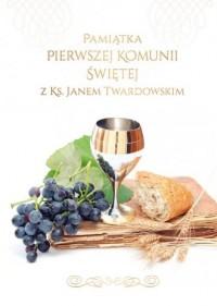 Pamiątka I Komunii Świętej z ks. Janem Twardowskim - okładka książki