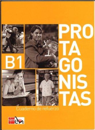 Protagonistas B1. Ćwiczenia - okładka podręcznika