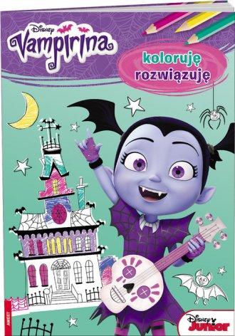 Vampirina. Koloruję rozwiązuję - okładka książki