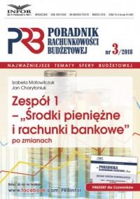 Poradnik Rachunkowości Budzetowej 3/2018. Zespół 1 - okładka książki