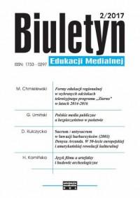 Biuletyn Edukacji Medialnej 2/2017 - okładka książki