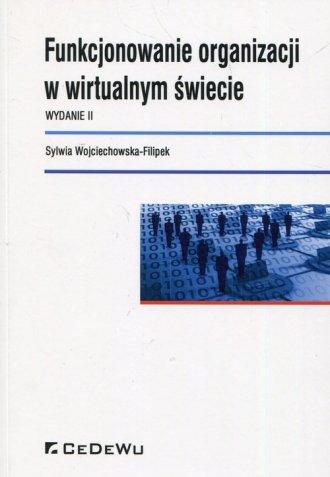 Funkcjonowanie organizacji w wirtualnym - okładka książki