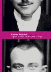 Logika, analiza mowy, psychologia - okładka książki