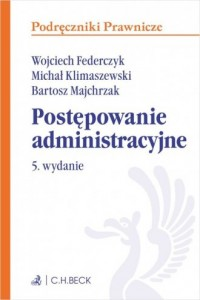 Postępowanie administracyjne. Podręczniki - okładka książki