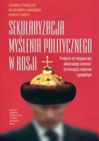Sekularyzacja myślenia politycznego - okładka książki