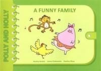 A funny family Polly and Holly - okładka książki