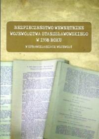Bezpieczeństwo wewnętrzne województwa stanisławowskiego w 1938 roku w sprawozdaniach wojewody - okładka książki
