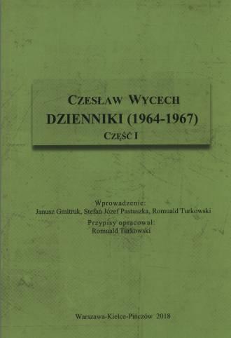 Czesław Wycech. Dzienniki (1964-1967) - okładka książki
