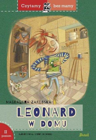 Czytamy bez mamy. Leonard w domu - okładka książki