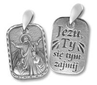Medalik Jezu, Ty się tym zajmij - srebrny - dewocjonalia