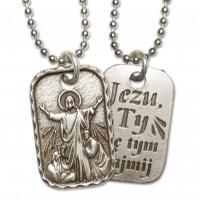 Medalik Chrystusa Pocieszyciela z inskrypcją Jezu, Ty się tym zajmij - dewocjonalia
