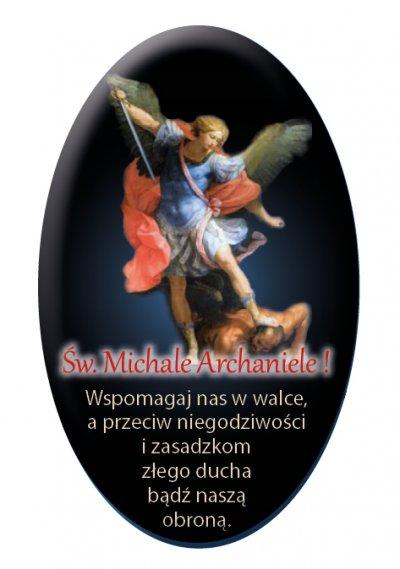 Naklejka samochodowa Michał Archanioł -