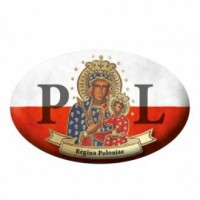 Naklejka samochodowa Patroni Polski Maryja, Królowa Polski - dewocjonalia