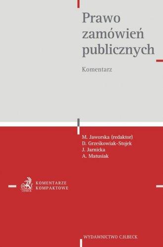 Prawo zamówień publicznych. Komentarz - okładka książki