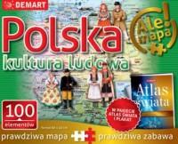 PUZZLE 100 Polska kultura ludowa + Atlas - okładka książki