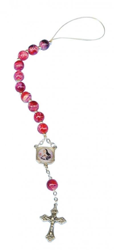 Różaniec samochodowy - św. Rita -