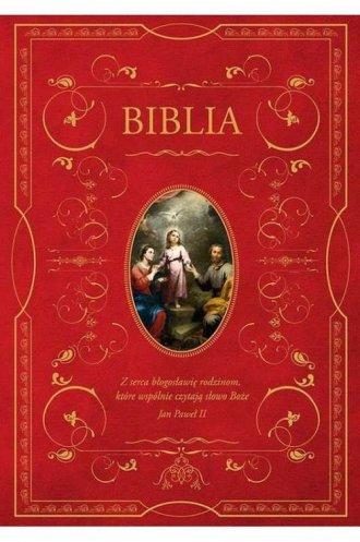 Biblia domowa z obwolutą Święta - okładka książki