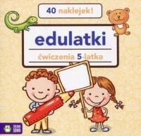 Edulatki ćwiczenia 5-latka - okładka książki