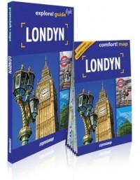 Londyn light: przewodnik + mapa - okładka książki
