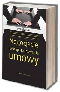 Negocjacje jako sposób zawarcia - okładka książki